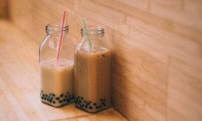 milk tea with pearls